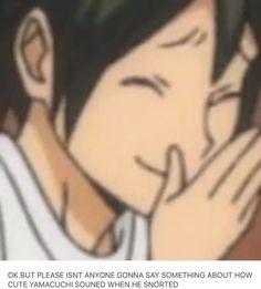 Yamaguchi Tadashi- the cutest person to exist in Haikyuu! Daisuga, Kuroken, Bokuaka, Kagehina, Kenma, Haikyuu Volleyball, Volleyball Anime, Hinata, Tsukishima X Yamaguchi