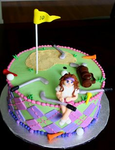 Girls Golf Cake