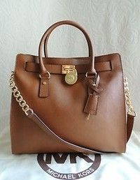 New Auth Michael Kors Hamilton Large NS Tote Saffiano Leather Bag Luggage $358
