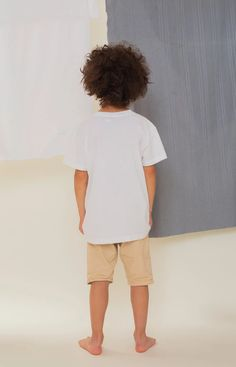Rahkasammal kid's T-shirt white - TAUKO Sustainable Clothing, Sustainable Design, Stand Collar Shirt, Leftover Fabric, Light Blue Color, Classic T Shirts, Kids, Sustainable Clothes, Young Children