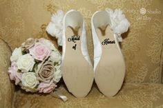 Maid of Honor Wedding Shoe Decal by CristysStudio on Etsy