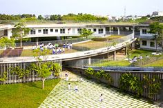 Green Roofed Farming Kindergarten Teaches 500 Vietnamese Children How to Grow Their Own Food | Inhabitat - Sustainable Design Innovation, Eco Architecture, Green Building