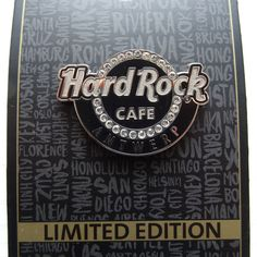 Pin Hard Rock Cafe Antwerp Classic Logo with Gemstones Limited Edition 2017 NEW | eBay