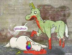 Zombie Unicorns #zombies