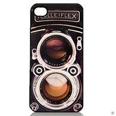 CAPA PARA IPHONE 5-5S CÂMERA ROLLEIFLEX As capas de celulares ganharam status de acessório, inclusive na moda masculina. Essa traz a estampa da lendária Rolleiflex e dá um ar retrô para quem curte selfies e fotografias à moda antiga.
