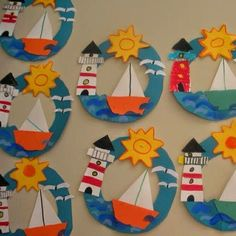 I'm a sucker for this exquisite photo Boat Crafts, Ocean Crafts, Summer Crafts For Kids, Camping Crafts, Art For Kids, Preschool Art Projects, Preschool Crafts, Easy Diy Crafts, Cute Crafts