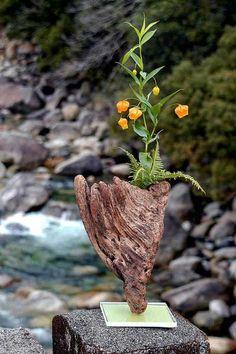 流木の花器 2005-17