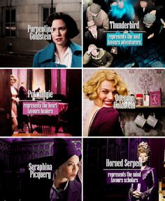 the women of 'fantastic beasts and where to find them' + their ilvermorny houses