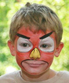 Trucco del viso per Carnevale per bambini da Angry Birds