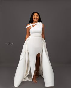 Get Ready to Pin These Wedding-Worthy Looks from Bibi Bella by Bibi Lawrence and Ink Eze African Wedding Dress, African Wear Dresses, Latest African Fashion Dresses, African Print Fashion, Nigerian Wedding Dress, Nigerian Bride, African Weddings, Bride Reception Dresses, Wedding Reception