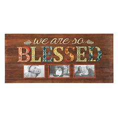 We Are So Blessed 3-Opening Collage Frame   Kirklands