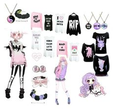 """""""Pastel Goth #2"""" by dollphantomhive on Polyvore"""