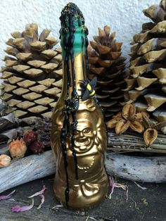 Rita's Gypsy Gold Buddha Witch Bottle Shaker - Bring Prosperity, Luck, Help Draw in Unexpected Money to Your Home or Business