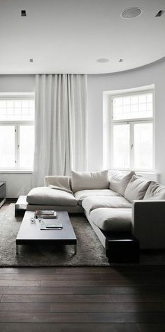 low sectional & low coffee table