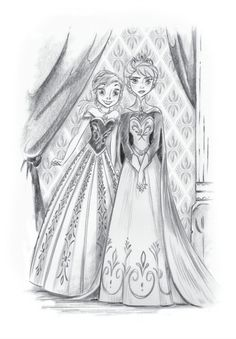 Official Frozen illustration of Elsa and Anna - Disney Princess Photo (35358771) - Fanpop