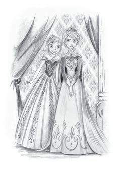 Anna and Elsa - LOVE IT! Except Elsa should look happier