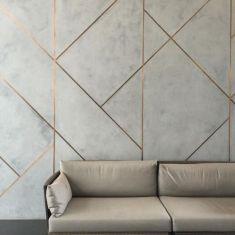 Architecture, Design & friendship - Novacolor Marmorino plaster with brushed copper. Cement Walls, Concrete Wall, Concrete Texture, Metal Texture, Concrete Design, Design Living Room, Decoration Design, Design Furniture, Simple Furniture