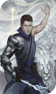 Valiant of Blazing Spirit by katorius - Inquisitor Auron Trevelyan, Knight Enchanter