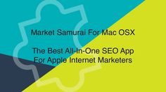 Info video about the best all-in-one SEO software for Mac OSX keyword planning, rank tracking and competition analysis. http://www.macseoapps.com/internet-marketing/mac-keyword-analysis-software.html