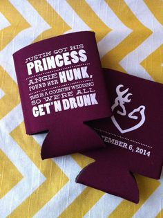 Country Wedding Koozies  200 count by RookDesignCo on Etsy, $158