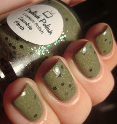 Surprisingly adorable mani for that shade of green