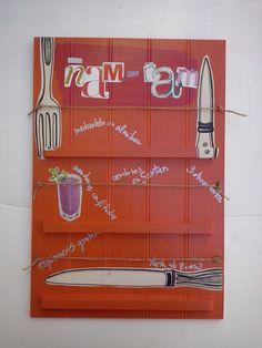 cartel menu cocina