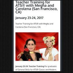 Teacher Training for ATS® (San Francisco, CA, USA) January 23-24, 2017 - Upcoming Events! #ATS #bellydance #tribal