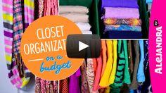 [VIDEO]: Closet Organization on a Budget (Part 4 of 4 Dollar Store Organizing) from http://www.alejandra.tv/blog/2015/03/closet-organization-budget-part-4-4-dollar-store-organizing/?utm_source=Pinterest&utm_medium=Pin&utm_content=ClosetBudgetPart4&utm_campaign=WeeklyVideo
