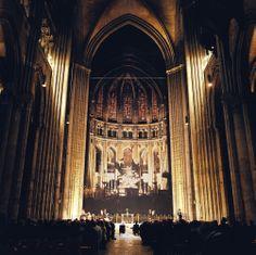 Wedding ceremony inside Notre Dam Cathedral! www.jwilkinsonco.com #photography #film #wedding #France