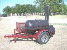 NEW Custom BBQ pit smoker Charcoal grill trailer - Smokers - Ideas of Smokers Charcoal Grill Smoker, Best Charcoal Grill, Charcoal Bbq, Bbq Smoker Trailer, Bbq Pit Smoker, Trailer Smokers, Smoker Cooker, Custom Bbq Pits, Stainless Steel Bbq Grill