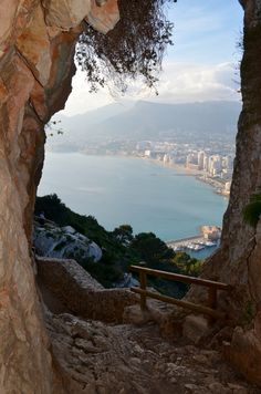 View from a cave entrance near Calpe Spain