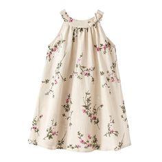 Floral O-Neck Summer Dress