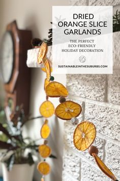 Dried orange slices are the perfect eco-friendly holiday decoration. Follow this quick and easy tutorial to make your own! Dried Orange Slices, Seasonal Decor, Holiday Decor, Holiday Activities, Wind Chimes, Make Your Own, Garland, Eco Friendly, Diy Projects