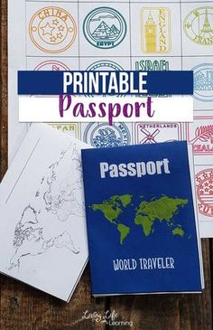 "Printable Passport for Kids Does your child want to be a world traveler? Try these books from to ""visit"" Russia and get a stamp in your printable passport for kids. Your child will feel like a real traveler as they collect stamps in their own passport. Passport Template, Passport Stamps, Geography For Kids, World Geography, Teaching Geography, Geography Games, Around The World Theme, Kids Around The World, Countries Around The World"