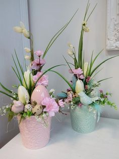 Easter Flower Arrangements, Flower Arrangement Designs, Easter Flowers, Easter Projects, Easter Crafts, Paste, Diy Easter Decorations, Easter Wreaths, Ideas