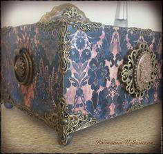 """Купить Подставка """"Вечерняя симфония"""" - тёмно-фиолетовый, подставка для духов, хранение дамских мелочей, подставочка"""