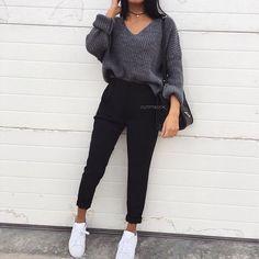 ♡ f l e x i n – # # -… – Mode Outfits Fashion Mode, Winter Fashion Outfits, Fall Winter Outfits, Look Fashion, Fall Fashion, Cute Casual Outfits, Hijab Casual, Ootd Hijab, Teenager Outfits