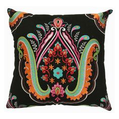 Picture of Hamsa Embossed Flower Pillow 18-in