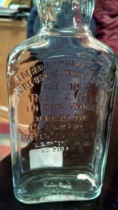 Old whiskey bottle- for display for whiskey tasting.