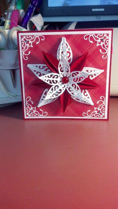 Christmas card with attached homemade ornament