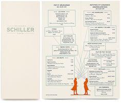 Brasserie Schiller identity. Menu. BOB Design