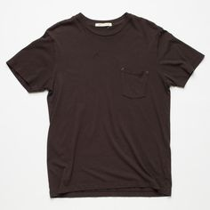 Freenote Cloth | Heavy Gauge Black Pocket T-shirt | Vintage wash | 20 single loose knit cotton | Custom front pocket with bar tack accent | 100% cotton | Made in USA | Classic everyday soft tee | $65