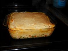 Chicken Pot Pie with a Cake-Like Crust...one of the best chicken pot pies ever!