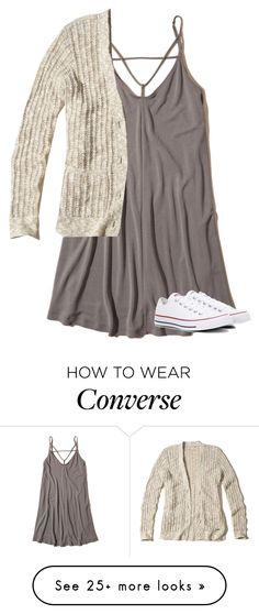 """Untitled #3370"" by laurenatria11 on Polyvore featuring Hollister Co. and Converse"