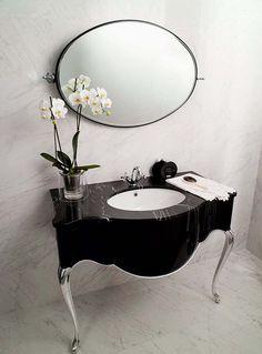 Classy Art Nouveau Interior Design  Absolutely Love for 1/2 bath
