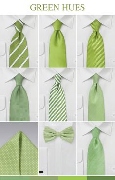 Popular Green Wedding Ties for Groom and Groomsmen