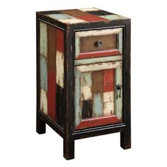 $224____  _____Christopher Knight Home Battletown Multicolor One Drawer One Door Cabinet  25Hx13.5Wx16D