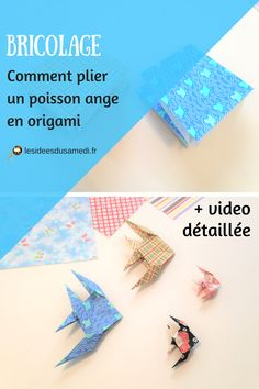 Pliage original et délicat de poissons anges en origami? #tuto #origami #poisson #diy #fish #paperfolding #papier