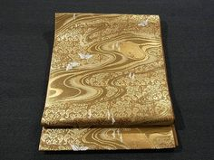 Butterfly & Glittering Stream Pattern Kawashima Fukuro Obi
