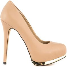 Modern Vice Women's Madison - Nude Leather (£70) ❤ liked on Polyvore featuring shoes, pumps, heels, sapatos, zapatos, beige, beige leather pumps, nude pumps, nude shoes and leather shoes